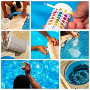 Hilfsmittel zur Reinigung des Outdoor Whirlpools
